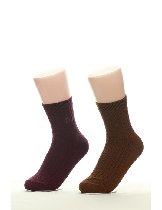 Tất nữ cổ cao trơn màu EBW 1506 - PUR & BR